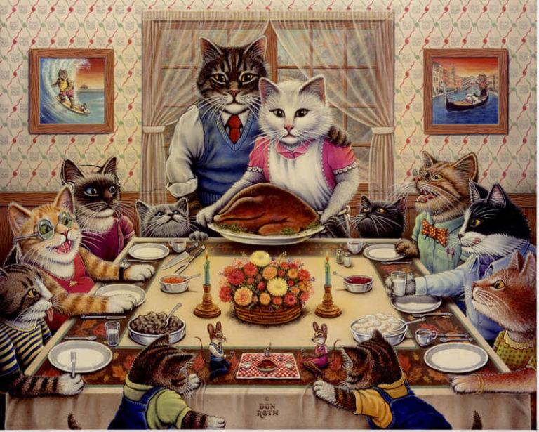 Feline Family Feast