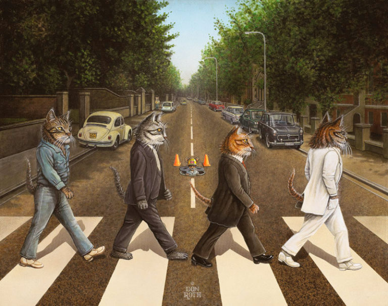 cat version of Beatles Abbey Road