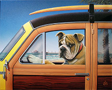 Kool-Kats Pet Portraits: Diesel in Woody